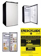 Haier 4 5 cu ft Compact Refrigerator Virtual Steel Home Kitchen Appliances New