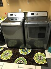 Maytag Bravos 4 6 CF Hi Eff Washer   7 3 CF Electric Dryer w steam in Granite