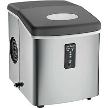 Igloo ICE103 Countertop Ice Maker with Oversized Ice Basket   Stainless Steel