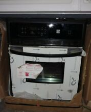 24  Black and Stainless Kenmore Built in Oven