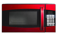 Microwave Oven Stainless Steel Modern Kitchen Cooking Touch Control Black Red