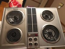 Jenn Air Downdraft Electric Cooktop Stainless Steel 30  Works Well