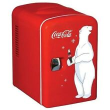 Coca Cola Mini Small Compact Fridge Refrigerator Dorm Drink Cooler Retro Style