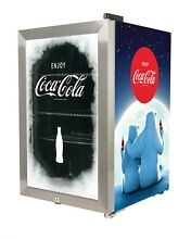 Nostalgia Coca Cola 80 Can Commercial Beverage Cooler LED Illuminated Glass Door