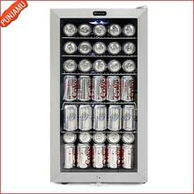 Stainless Steel Trimmed Glass Door Beverage Refrigerator with 120 Can Capacity