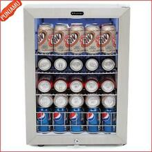 Lock 90 Can Capacity Stainless Trimmed Glass Door Design Beverage Refrigerator
