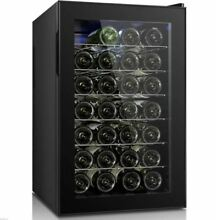 Wine Cooler Electric Refrigerator Beverage Wet Bar Black Under Cabinet Counter