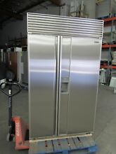 SUB ZERO 48  690 PERFECT STAINLESS STEEL DOORS w ICE WATER BUILT IN REFRIGERATOR