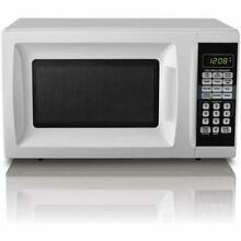 Hamilton Beach 0 7 cu ft Countertop Microwave Oven  White Touchpad LED Display