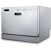 Countertop Dishwasher Portable Stainless Steel Midea 6 Place Setting Kitchen