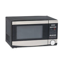 0 7 Cu ft Capacity Microwave Oven  700 Watts  Stainless Steel And Black