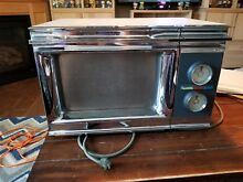 Amana Radarange RR 2 Vintage Chrome Microwave Oven Retro 1600W WORKS GREAT