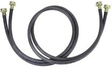 Whirlpool 10 ft  Black Rubber Washer Hose  2 Pack