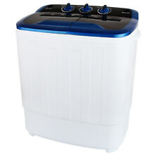 Portable 13LBS Washing Machine Mini Compact Twin Tub Laundry Spin Dryer Washer