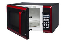 Red Microwave Oven 0 9 cu ft  900W LED 10 Power Levels Hamilton Beach