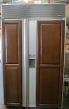 Sub Zero 690 F 48in Built in Side by Side Refrigerator with Wooden Accent Pieces