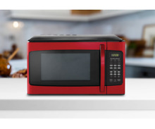 Red Microwave Small Countertop Dorm Rv Best Stainless Steel Kitchen Appliances