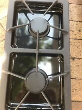 GE GAS STOVE OVEN COMPLETE BURNER GRILL GRATE SET WITH PANS