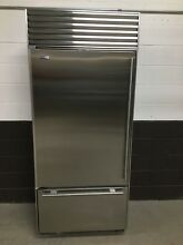 Sub Zero 650   S  36  Refrigerator Top Freezer Bottom Stainless Steel Build In