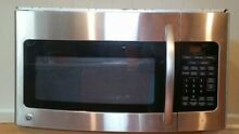 GE Over Range Stainless Steel Sensor Cooking Kitchen Microwave w  Cabinet Mount