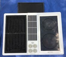 Jenn Air cve4270w white downdraft cooktop W 2 burners Griddle Grill
