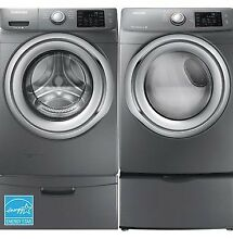 Samsung 4 2 CuFt Platinum Front Load Washer With 7 5 CuFt Platinum Front Load
