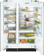 Miele MasterCool Series 48  Side by Side Refrigerator Freezer Stainless Steel