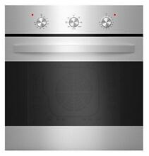 Empale 24  Stainless Steel 6 Cooking Function Electric Built in Single Wall