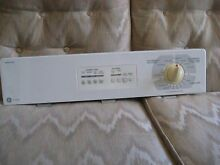 GE Dryer White Console with Knob Timer  Electronic Control  Overlay  Timer