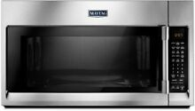 Maytag 30 in  W 1 9 cu  ft  Over the Range Convection Microwave in Fingerprint