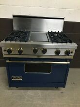 VIKING VGRC365 4GDVBBR 36  Professional Gas Range Oven 4 Burner   Griddle