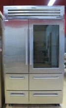 Sub Zero 648PROG 48 Inch Built in Side by Side Refrigerator Stainless Steel