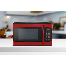 Red 1 1 Cu Ft Microwave Oven Hamilton Beach 1000W Child Lockout 10 Power Levels