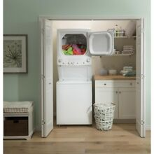 White Laundry Center Washer 3 8 cu  ft  and 5 9 cu  ft  240 Volt Vented Electric
