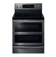 Samsung30 in  5 9 cu  ft  Flex Duo Double Oven Electric Range   Self Cleaning