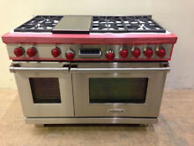 Wolf DF486G 48 Professional Dual Fuel Range Stove 6 Burners