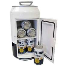Corona Beer Mini Can Fridge Man Cave Refrigerator Compact Party Patio Tailgating