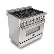 ZLine 36  Stainless 4 6 cu ft  6 Gas Burner Electric Oven Range RA36  RA36 10