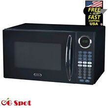 Sunbeam 0 9 CU FT 900W Microwave Oven Kitchen LED Display Countertop  Black