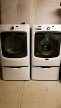 Maytag 4 3CuFt Washer w  Powerwash 7 4CuFt Electric Dryer Wrinkle Free