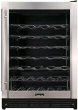 Beverage Wine Cooler 50 Bottle Storage Temperature Control Stainless Glass Door