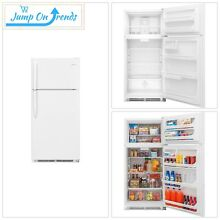 Top Freezer Refrigerator in White 18 cu  ft  Top Quality