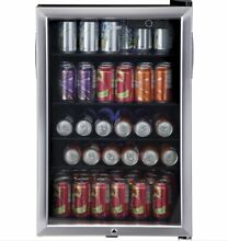 Beverage Fridge Small 150 Can Refrigerator Cooler Stainless Steel Dorm Office
