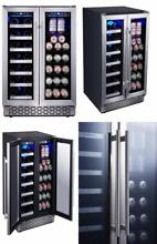 Built In Dual Zone Wine and Beverage Cooler with Stainless Steel French Door US
