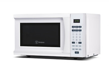 White Cabinet Counter Top Microwave Oven 700Watt Quick Cook Setting Home Kitchen