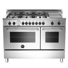 Bertazzoni Master Series 48  Stainless Steel Gas Range MAS486GGASXT   BLOWOUT