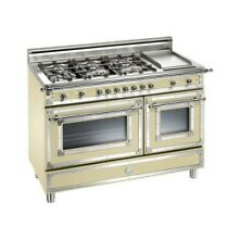 Bertazzoni HER486GGASCR 48  Heritage Series Gas Freestanding Range in Cream