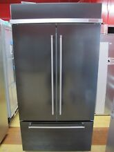 KitchenAid 42  Built In Black Stainless Steel French Door Refrigerator KBFN502EB
