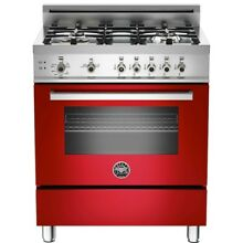 Bertazzoni Pro 304 Gasro 30  Professional Series Gas Freestanding Range in Red