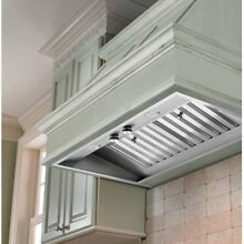 Vent A Hood 28 38W in  M Series Wall Mounted Liner Insert  Silver